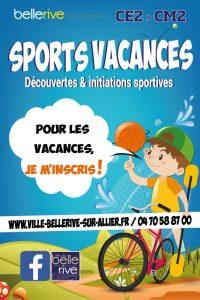 Affiche sports vacances 2019 Bellerive