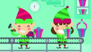Atelier de décoration de Noël à la médiathèque ferme-modèle
