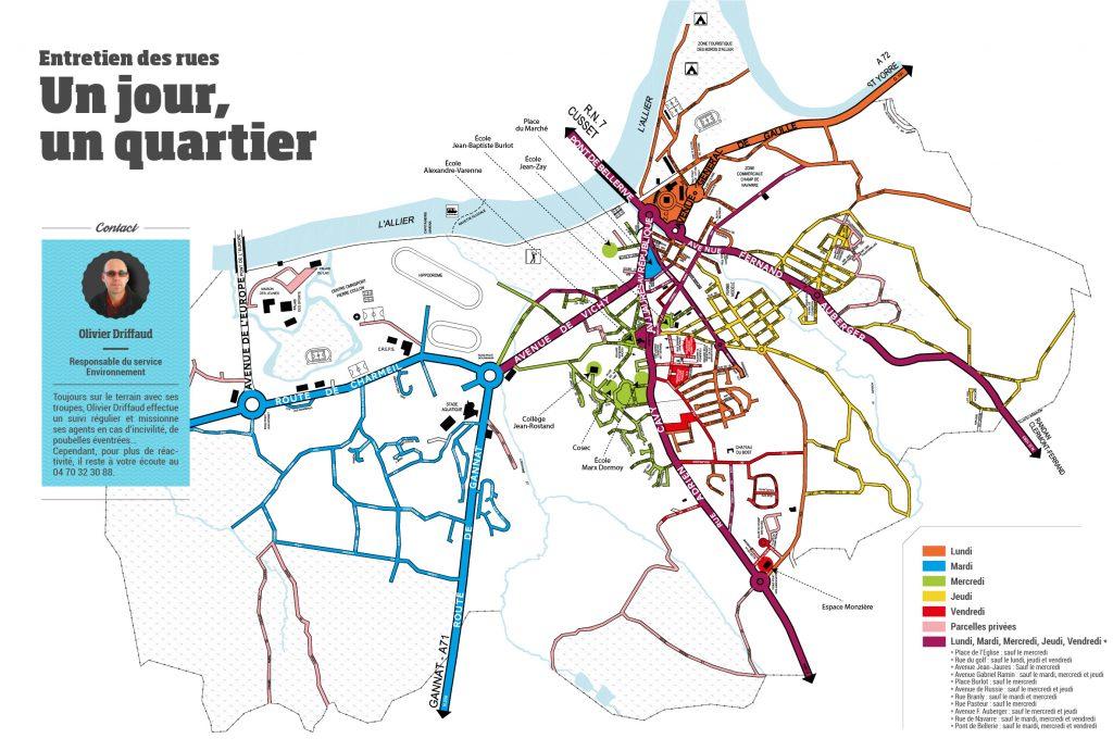 Plan d'entretien des rues à Bellerive-sur-Allier