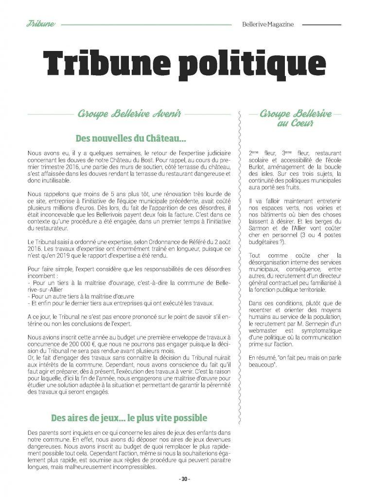 Tribune Bellerive magazine juillet 2019