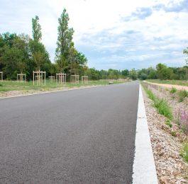 Nouvelle rue après les travaux des belles rives d'Allier