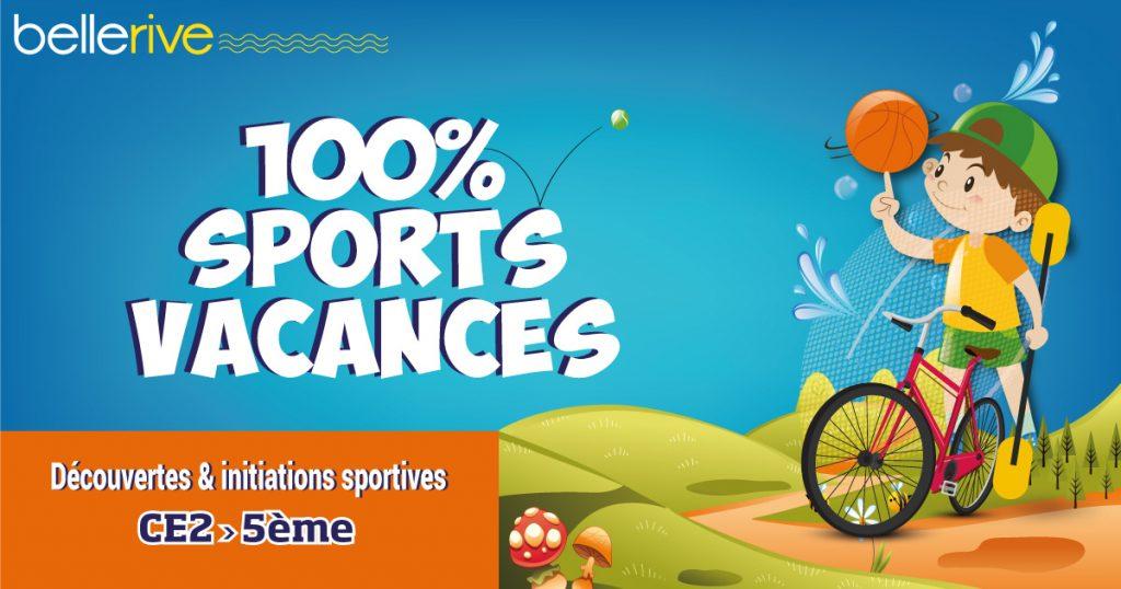 100% Sports vacances initiation aux sports pendant les vacances pour les enfants