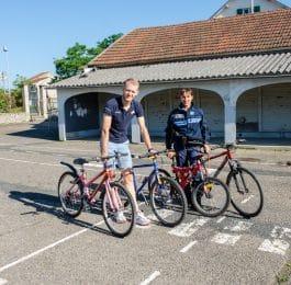 les vélos déstinés aux écoliers bellerivois