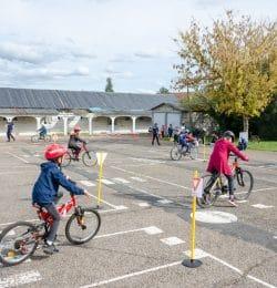 piste pédagogique de Bellerive, écoles primaires, vélos