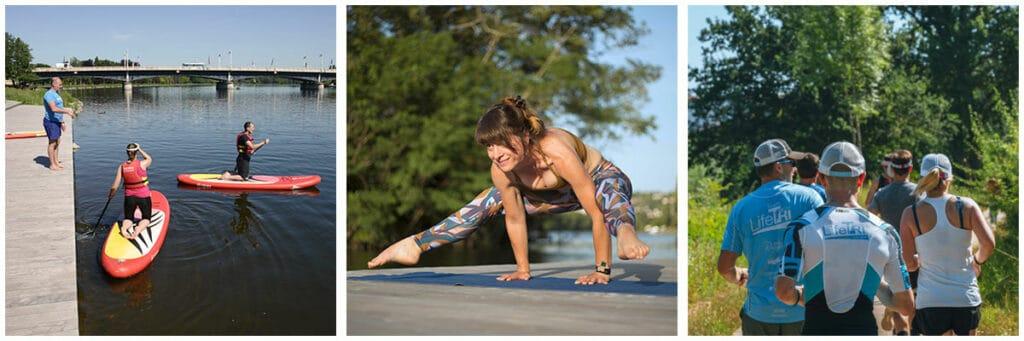 paddle yoga et run triathlon