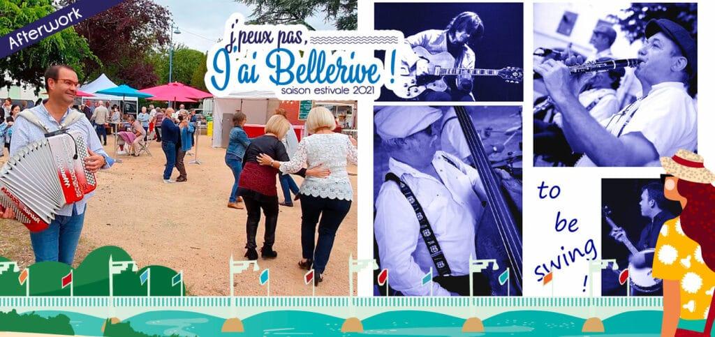 Marché Ô Sources Nocturnes et concert To Be Swing